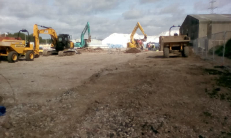 Clean Site after Remediation of Hydrocarbon contaminated soil